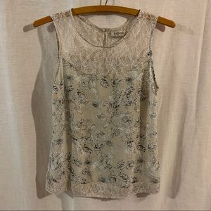 Romy Floral Top With Lace Detail